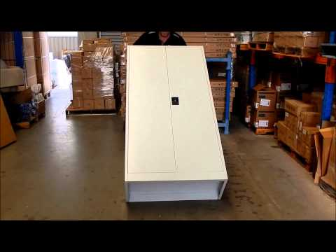 Shed and Shelving Stationery 1800mm Cabinet Assembly