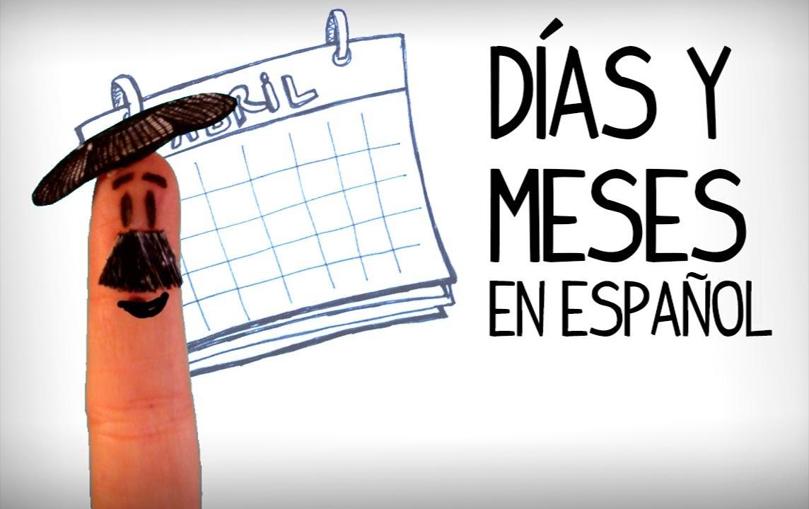 Célèbre Jours et mois en espagnol, Vocabulaire pour débutant-espagnol  KJ64