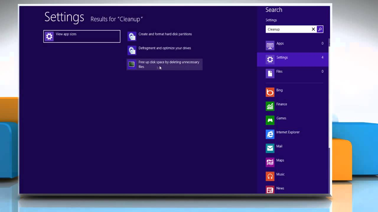 how to clear disk space on windows 8