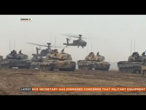 2015 British Army Live Firepower Demonstration - Exercise Tractable - Forces News