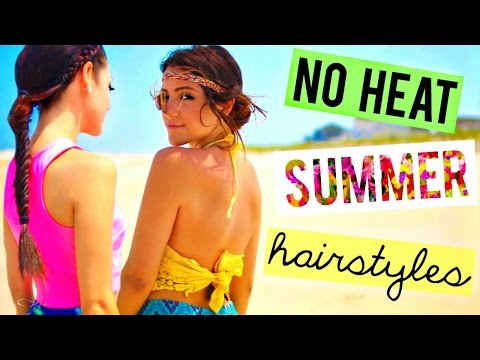 5 Cute + Easy HEATLESS Summer Hairstyles + Ways to style them | Niki and Gabi