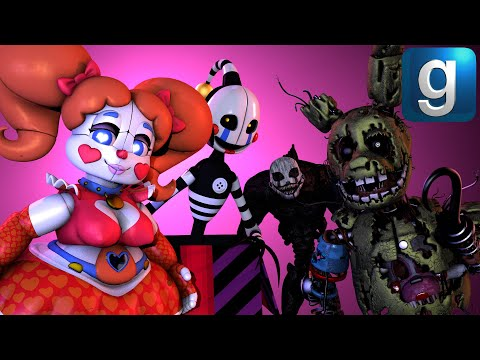 Gmod FNAF | Brand New Sexy Baby, Stylized Nightmarionne, Security Puppet Ragdolls \u0026 More!