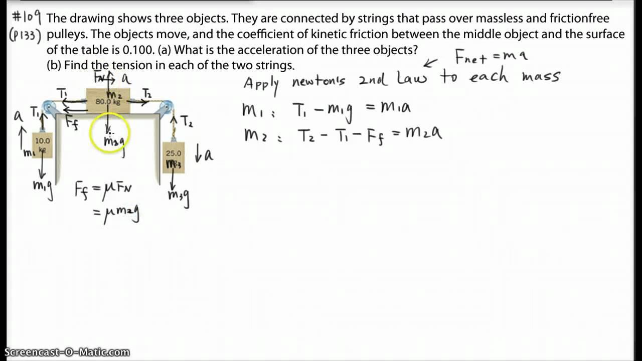Ph12: dynamics Problem: 3 masses system