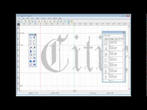 Type 3.0 font editor - how to create glyphs
