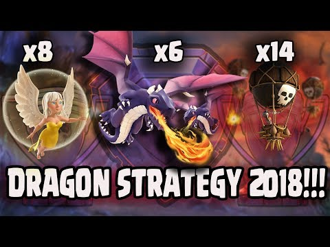 Healer + Max Dragon + Balloon :: TH11 NEW TROPHY PUSH & CLAN WAR ATTACK STRATEGY | DRAGON STRATEGY