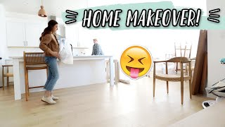FIRST DAY OF OUR HOME MAKEOVER!!