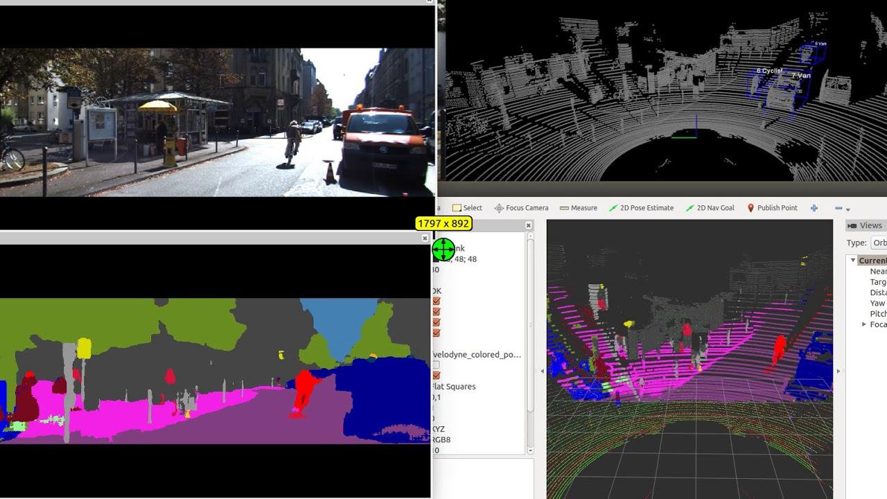 SmartElderlyCar project: Camera & lidar fusion