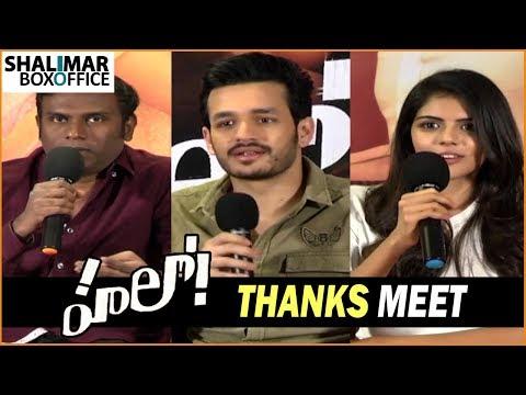 Hello Movie Thanks Meet    Akhil, Kalyani Priyadarshan,Nagarjuna    Shalimar Film Express