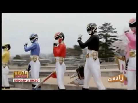 Power Rangers Super Megaforce - Canal J - Promo - Mega Héros - Demain à 8h30
