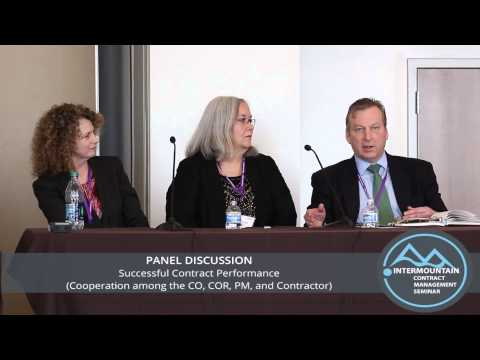 Great Salt Lake NCMA/ICSM Panel Discussion: Successful Contract Perfomance