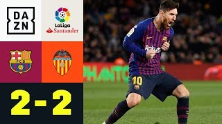 Lionel Messi: Doppelpack, Rekord & Verletzung: Barcelona - Valencia 2:2 | La Liga | DAZN Highlights
