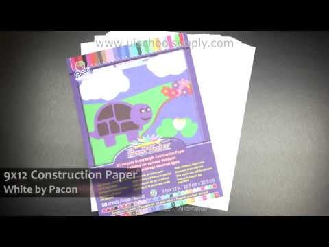 9x12 Bright White Construction Paper by Pacon -- PAC8703