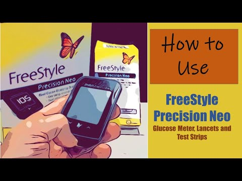 How To Use FreeStyle Precision Neo Blood Glucose Meter, Lancets And Test Strips