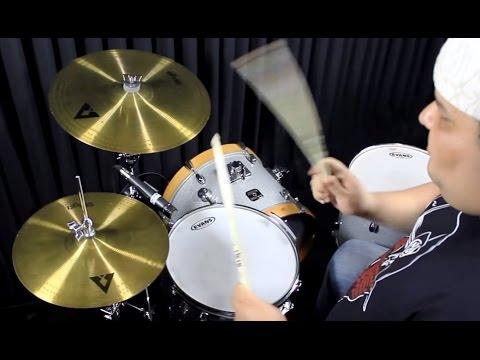 "Kit de Pratos Stagg AX Copper 13"" e 16"" cymbal sound check"