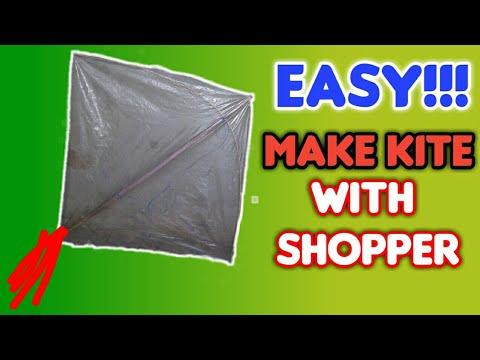How To Make A Kite With Shopper/Plastics Bag