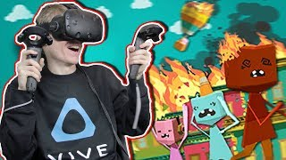 BECOME A FIREFIGHTER IN VIRTUAL REALITY! | Paperville Panic VR (HTC Vive Gameplay)