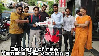 Taking delivery of new Yamaha R15 version 3 | vlogsat24