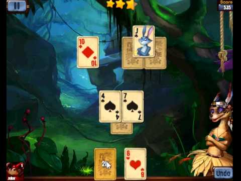 rainforest solitaire gameplay video youtube