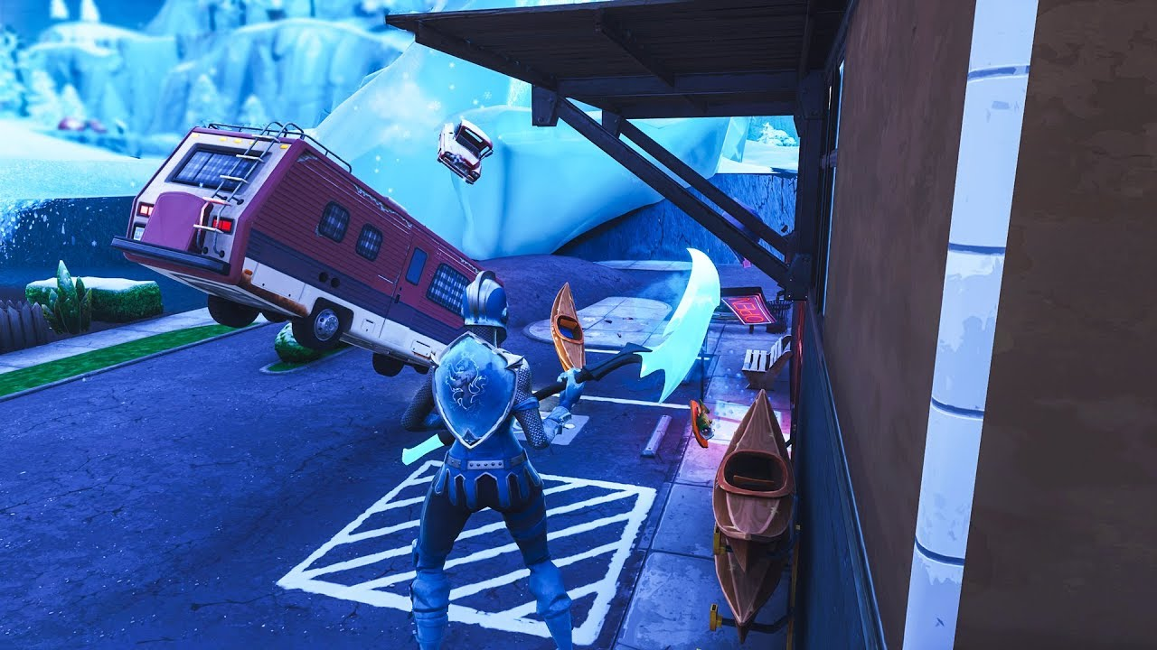 How to get INSIDE FROZEN GREASY GROVE in PUBLIC MATCHES by using this glitch! (Fortnite Glitch)