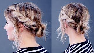 Hairstyle Of The Day: SUPER SIMPLE Twisted Rope Updo | Milabu