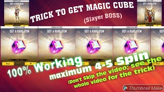 BOSS Gaming : Trick to get 'Magic Cube' in FREEFIRE