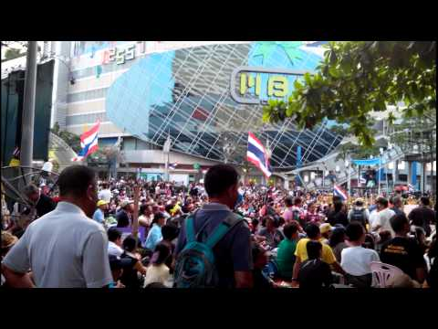 Protests and Street Shows in Bangkok Thailand