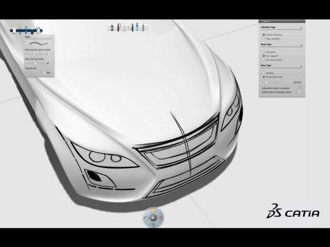 CATIA V6   Industrial Design   CATIA Natural Sketch Showreel
