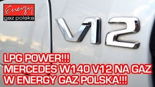 MERCEDES S600 V12 S-KLASA W140 408 KM 1994r W Energy Gaz Polska na auto gaz KME NEVO