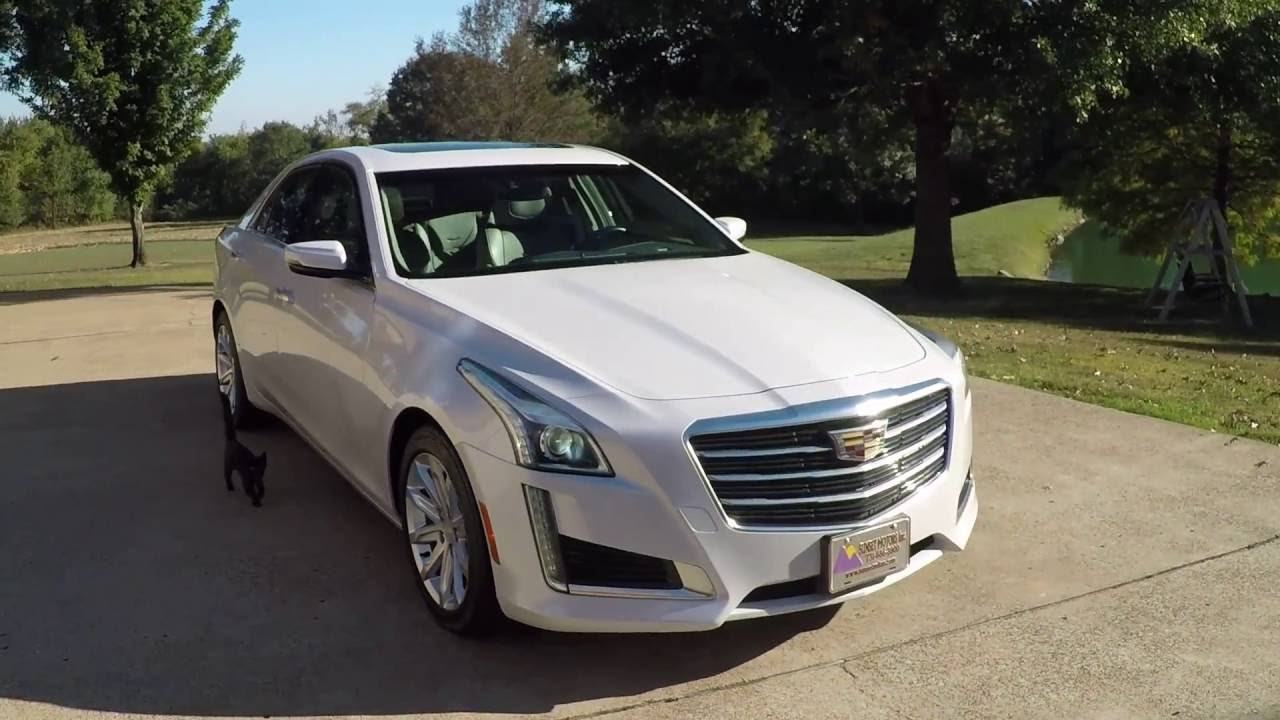 Hd Video 2015 Cadillac Cts Luxury Pearl White Used For Sale Info Www