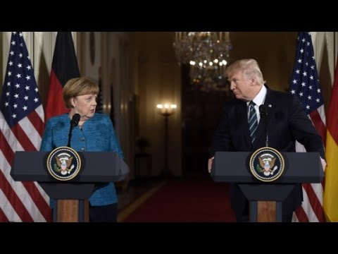 President Donald Trump hosts Angela Merkel at White House