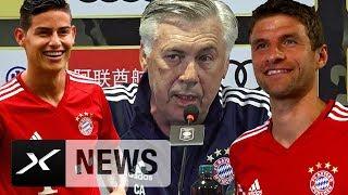 Carlo Ancelotti räumt auf: Deshalb ist James Rodriguez da | FC Bayern München