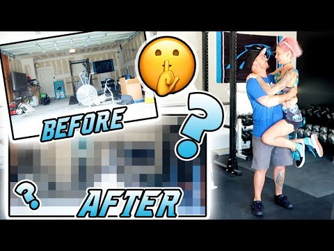 SURPRISING MY FIANCÉ! | Home Makeover: Garage Gym Edition