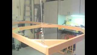 Winch system from the ceiling  for hanging HO Model Train Layout #2