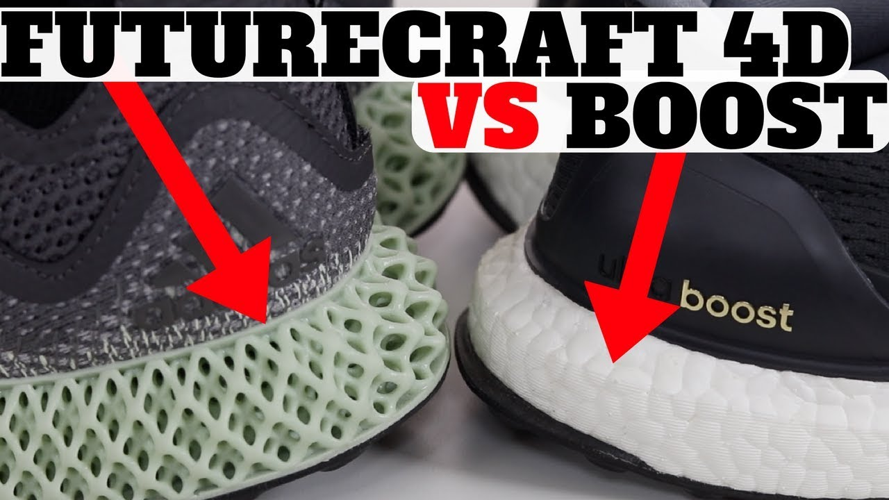 da4194cf06742 Adidas FutureCraft 4D vs Boost Technology - YouTube