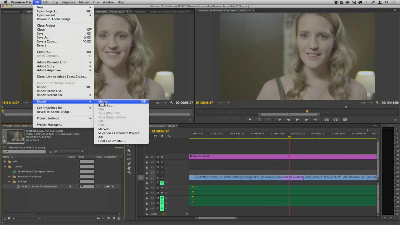 How To Export Clips Out Of Premiere Pro CC VFX, Colorist Perfect Post  Production1
