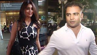 Shriya Saran & Sachin Joshi Spotted At Mumbai Airport
