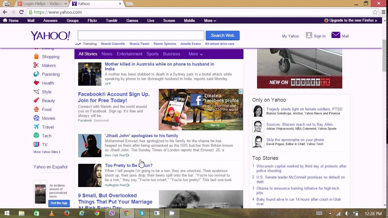 Yahoo mail sign in page yahoo sign up yahoomail login yahoo com home