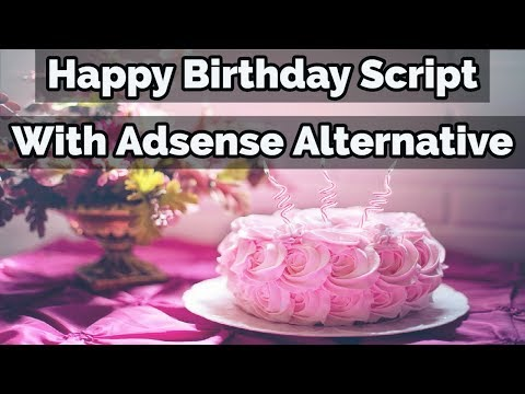 Happy Birthday HTML Free Whatsapp Viral Script For Blogger Without Google AdSense Ads (Hindi)