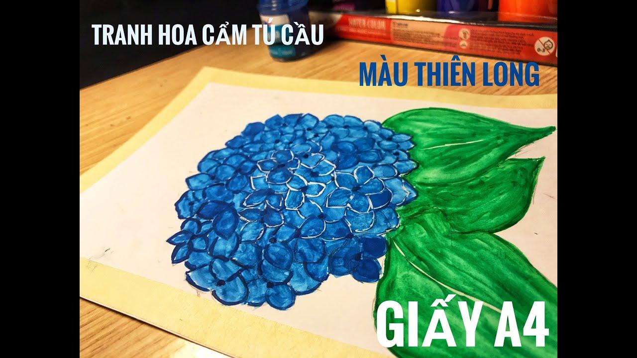 Học vẽ tranh đơn giản: Hoa Cẩm tú cầu