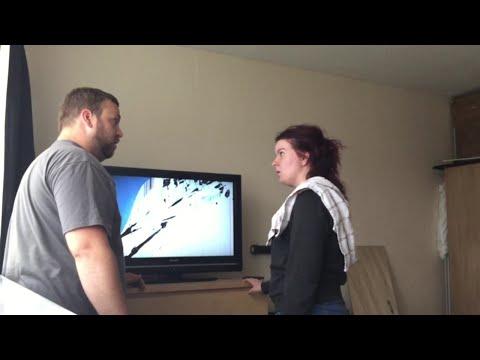 Smashed TV Prank