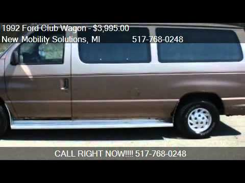 1992 Ford Club Wagon Chateau for sale in Jackson, MI 49202 a
