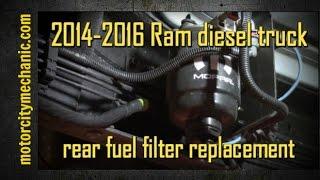 2014-2016 Ram 6.7 liter diesel rear fuel filter replacement - YouTubeYouTube