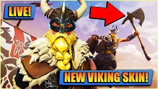 *NEW* VIKING SKIN // FORTNITE LIVE // PLAYING WITH SUBS