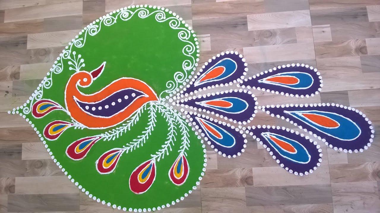Image result for peacock rangoli designs for diwali
