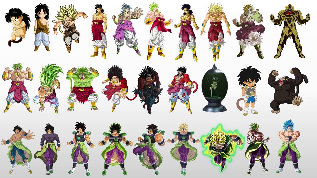 Download Evolution Of Broly All Forms Dragon Ball Z/Super/Heroes
