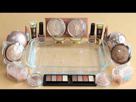'Bronze' Mixing'Bronze' Big Eyeshadow,Makeup and glitter Into Slime. ★ASMR★