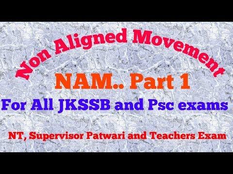 NAM..part 1..//  Non Aligned Movement  // Explanation in Hindi /URDU