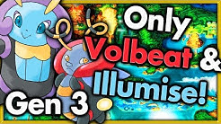 Can I Beat Pokemon Emerald with ONLY VOLBEAT & ILLUMISE? 🔴 Pokemon Challenges ► NO ITEMS IN BATTLE