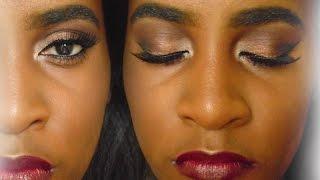 Bronze Fall Makeup | Coastal Scents Revealed 2 Palette Tutorial | For Dark Skin