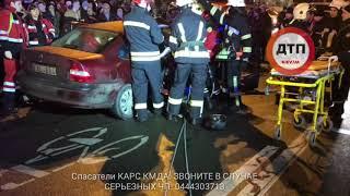 Репортаж спасателей #КАРС с места тяжёлого ДТП с пострадавшими в Киеве на Воскресенке: на перекрёстк